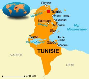 Carte Du Monde Tunisie cartograf fr la tunisie