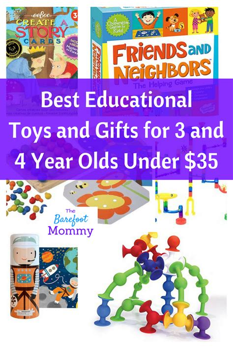 Best Educational Toys And Gifts For Three And Four Year Olds Under $35  The Barefoot Mommy