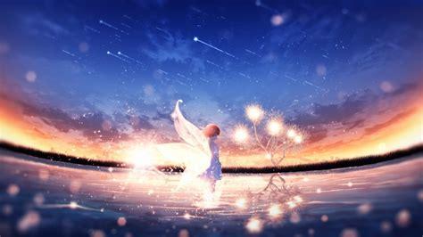 Wallpaper Anime Landscape Anime Fairy Girl Wings