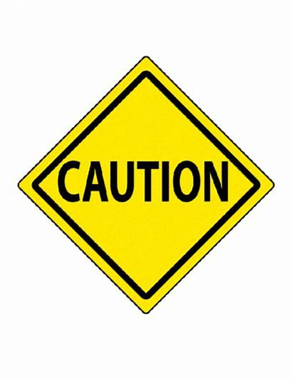 Sign Caution Clipart Signs Templates Road Template