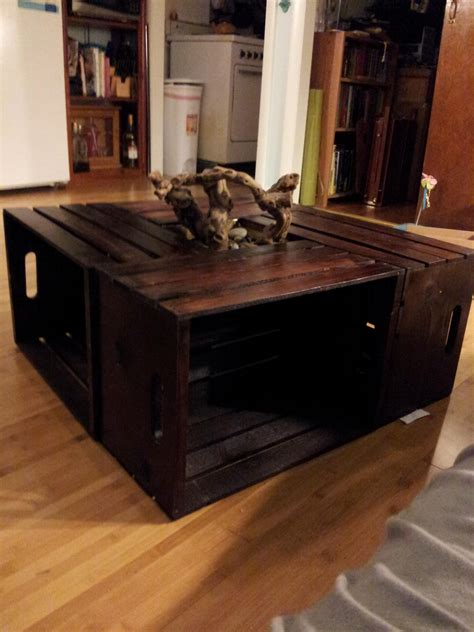 how to make a coffee table from crates