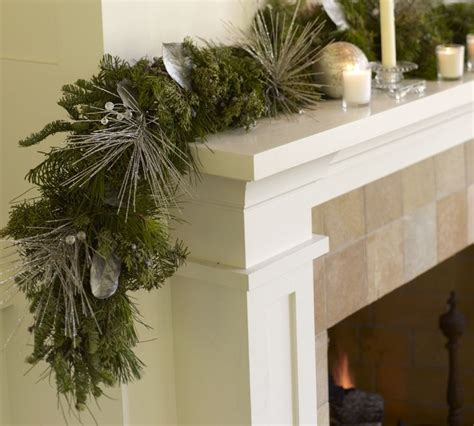 live sparkling silver garland christmas decor pinterest