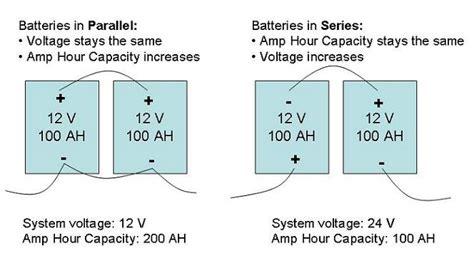 Batteries Series Parallel Connections Alte