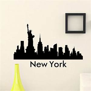 Free Shipping the WALL DECAL VINYL STICKER NEW YORK CITY