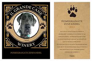 make your own wine labels with your photos grogtag With create your own wine labels