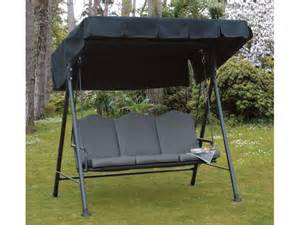 garden seat swing 3 seater patio cushioned chair steel