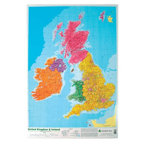 map   uk ireland poster lp