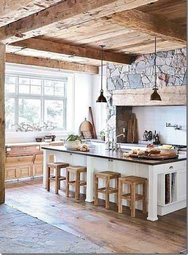 béton ciré sur carrelage mural cuisine cuisine verrière déco rustique en et bois