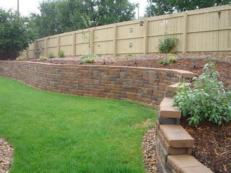 brick retaining wall design concrete block retaining wall design and this beautiful concrete block retaining wall
