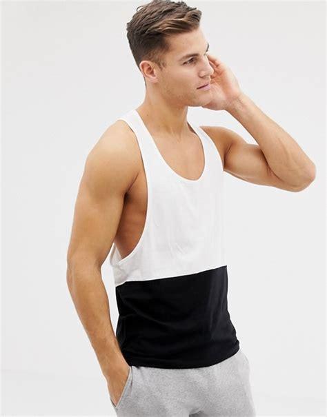 Asos Vest With Racer Back asos design racer back vest with contrast yoke in