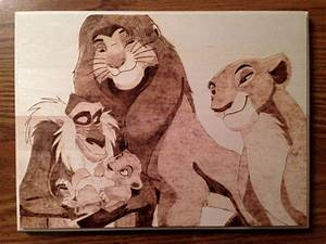 Lion King Family Wood Burning by jspinazzola on DeviantArt