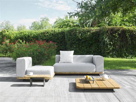 modern outdoor loveseat palo teak sectional modular sofa couture outdoor