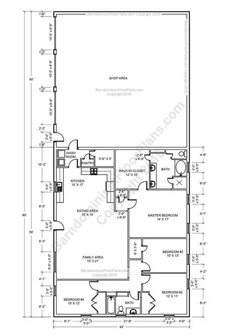 barndominium floor plans   type size