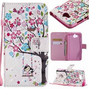 Wallet Cases For Huawei Y5 2017  Y6 2017 Case Back Covers