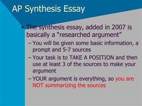 ap english language and composition synthesis essay sample - Ap Synthesis Essay Example