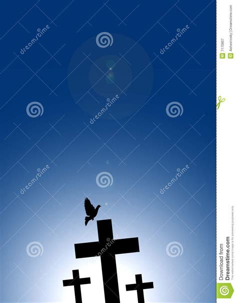 dove flying  jesus cross royalty  stock photography