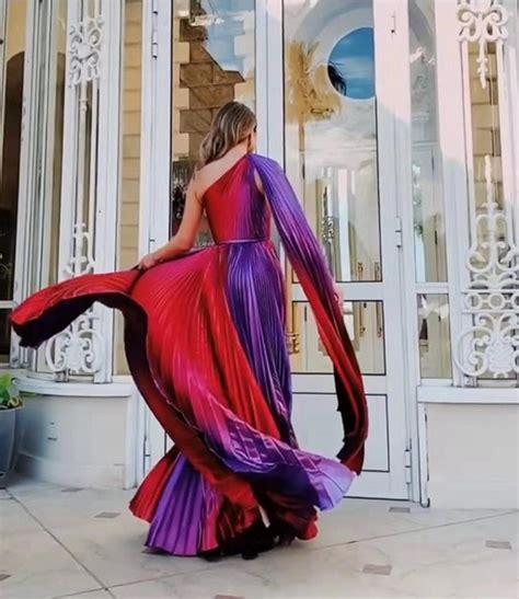 purple carpet gown