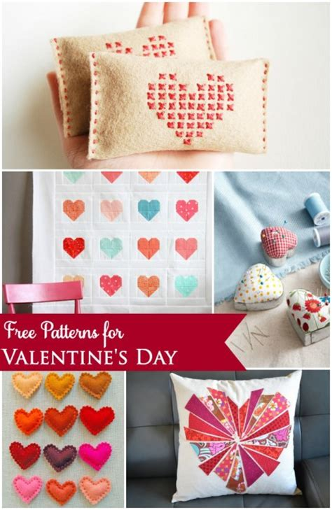 Free Patterns To Sew For Valentine's Day  The Cottage Mama