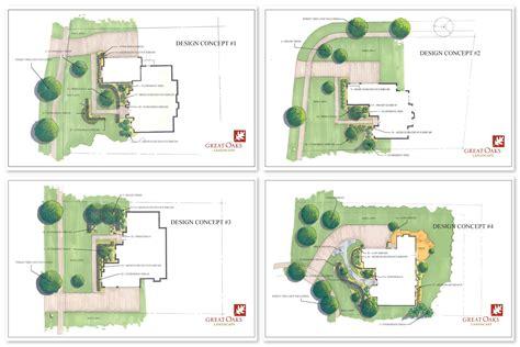 creating a landscape plan landscape design great oaks landscape