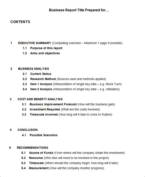 business report templates google docs apple pages