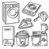 Appliances Electrical Clipart Electric Cliparts Appliance Clip Clipground Royalty Vector Webcomicms sketch template
