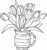 Coloring Spring Flower Pages Template Templates Colouring Related sketch template