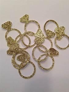 engagement ring confetti gold confetti glitter confetti With wedding ring decorations