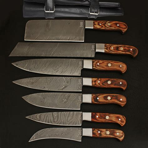kitchen knife collection damascus kitchen cutlery set set of 7 black forge knives touch of modern