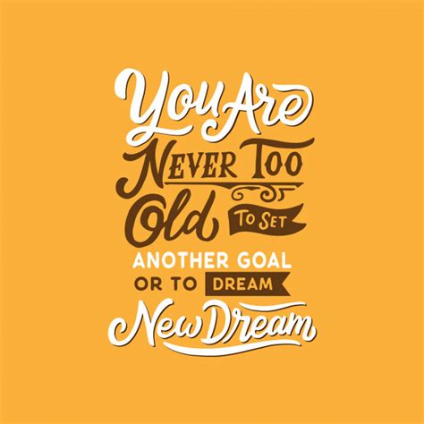hand drawn typography lettering design motivational quotes for new hope and new dream vector