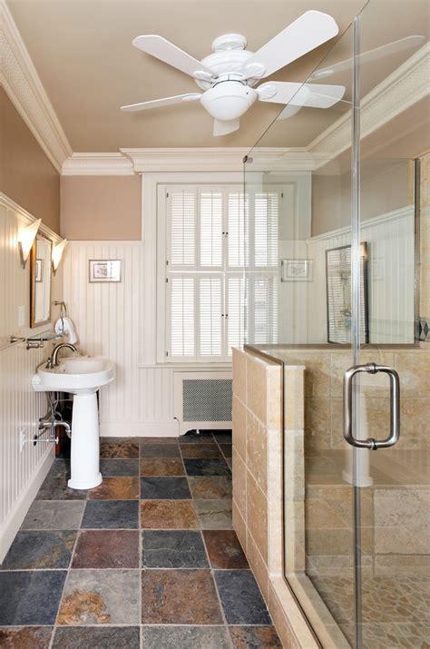 slate tile bathroom bathroom contemporary  beadboard