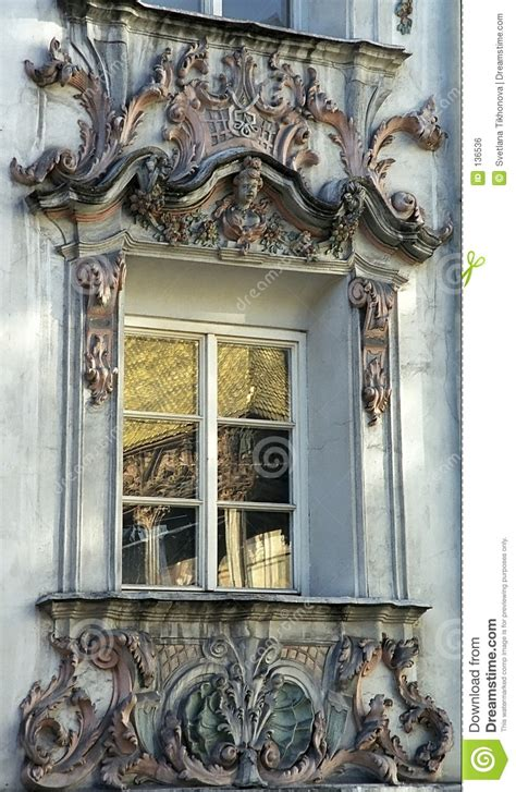 rococo window royalty  stock image image