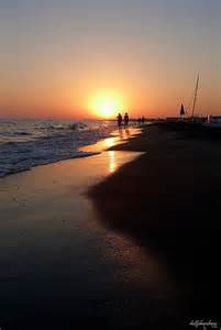 Lido Beach Italy Sunset