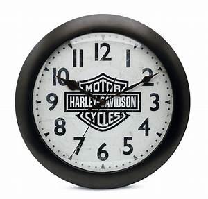 Harley Davidson Wanduhr : 99204 16v harley davidson wanduhr bar shield silent im thunderbike shop ~ Whattoseeinmadrid.com Haus und Dekorationen
