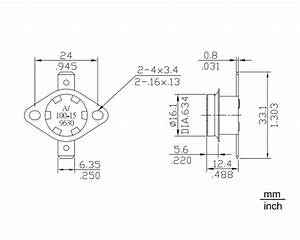 ksd301 temperature thermal switch normally open closed no With open circuit tv