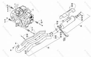 Arctic Cat Atv 2015 Oem Parts Diagram For Engine And