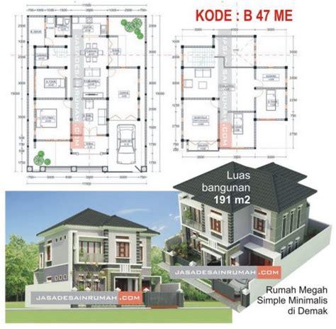rumah megah simple minimalis  demak  jasa desain rumah