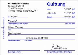 Rechnung Bestandteile : quittung ausdrucken drucken von quittungen nach quittungsvorlage ~ Themetempest.com Abrechnung