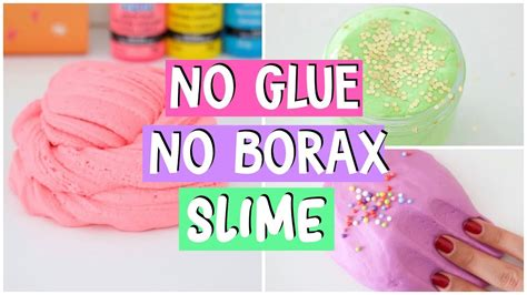 Making 4 Amazing Diy No Glue, No Borax Famous Slime