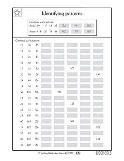 3rd grade 4th grade math worksheets identifying number
