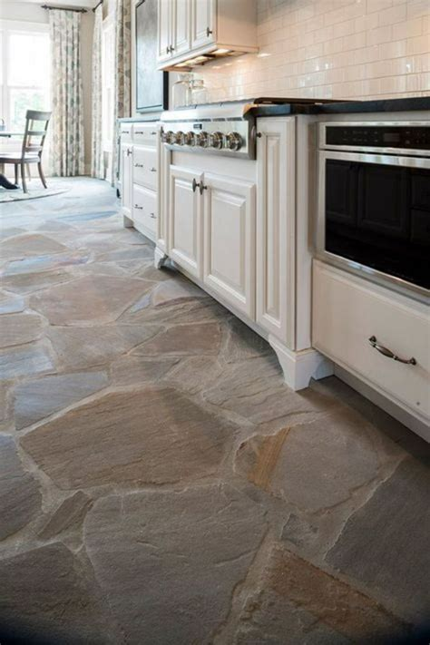 natural stone flooring adorning delightful kitchens