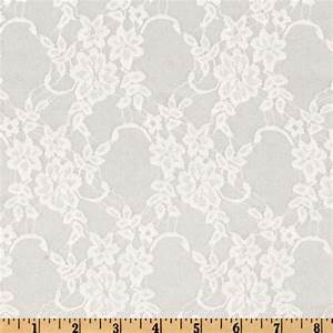 Giselle Stretch Floral Lace White - Discount Designer