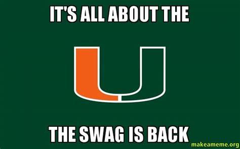 It's All About The The Swag Is Back   Make A Meme