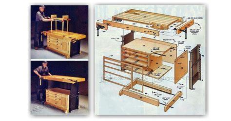 adjustable workbench plans woodarchivist