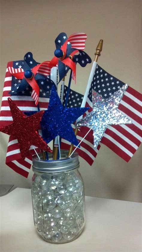 Th July  Ee  Centerpieces Ee   In National Colors Digsdigs