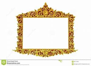 Old Antique Gold Frame Stucco Walls Greek Culture Roman ...