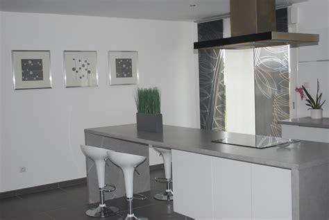 deco cuisine blanche et grise decoration cuisine meuble gris