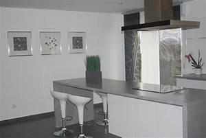 cuisine grise et blanche photo 4 7 3511729 With cuisine blanc et grise