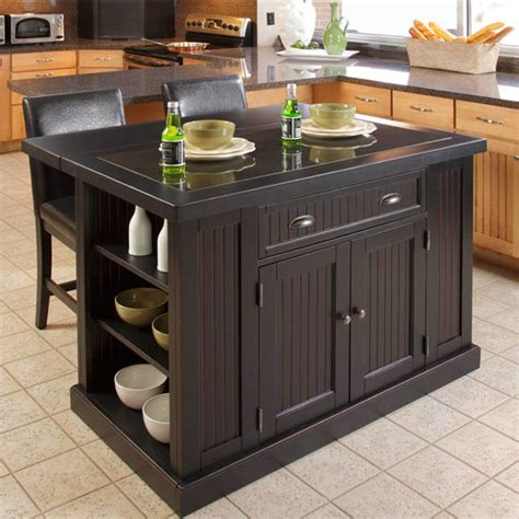 home styles nantucket kitchen island home styles nantucket kitchen island two stools with black granite inlay and breakfast bar in