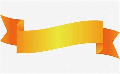 Ribbon Yellow Transparent Title Clip Arts Cinta
