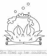 Broom Cauldron Coloring Pages Sheets Template Sheet Colouring Printable Kid Halloween Handwriting Practice Witches Crystalandcomp Potter Harry Books Potion Templates sketch template